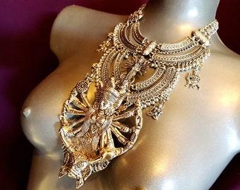 Vedic Hindu Durga Shakti Shiva Necklace (Kushmanda)