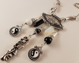 Duality into Oneness Yin Yang Necklace (As above so below)