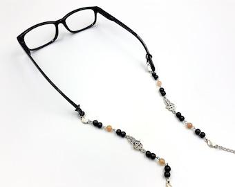 Hamsa Moonstone Glasses Chain