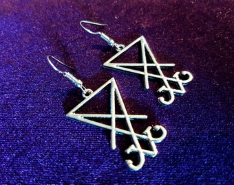 Sigil of Lucifer Earrings (2 styles)