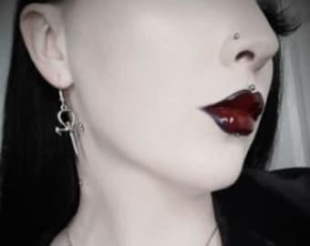 Vampire Ankh Earrings (2 styles) - (Smaller Design then the originals)