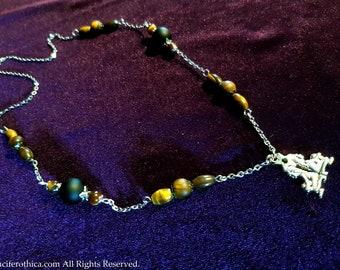 Gemini Gemstone Zodiac Necklace