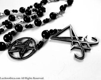 Sigil of Lucifer Rosary (Steel Design)