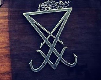 Big Sigil Of Lucifer Necklace