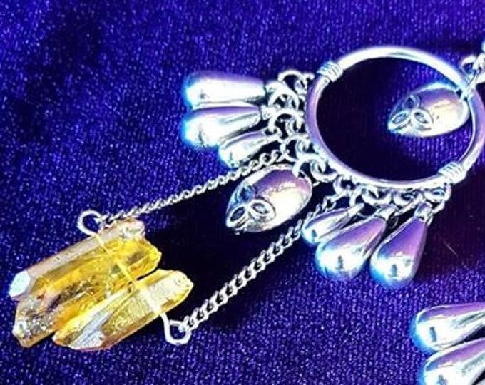 Alien Earrings - Extraterrestial ET Crytal space jewellery