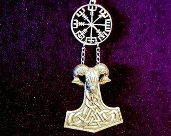 VEGVISIR RamHead Hammer Necklace