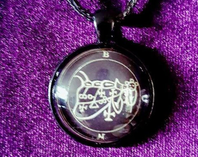 Sigil of Bune Pendant - occult left hand path goetia demon demonic goth gothic sigil