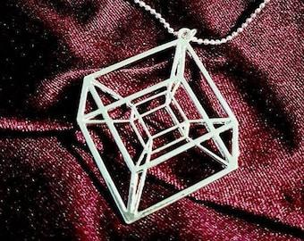 Tesseract Hypercube Necklace