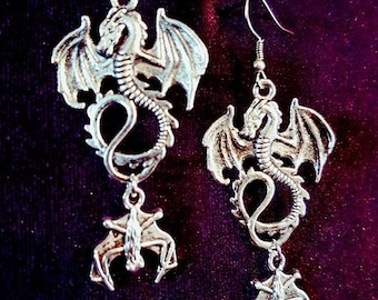 Dragon Bat Earrings