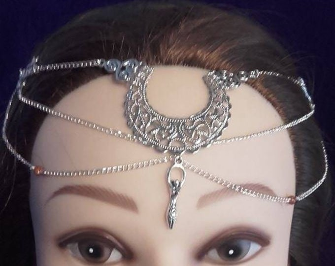 Moongoddess Tiara - headpiece wicca witch gothic occult moon