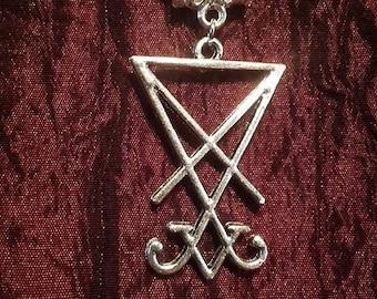 Sigil Of Lucifer Necklace   Lucifer occult satan  satanic baphomet