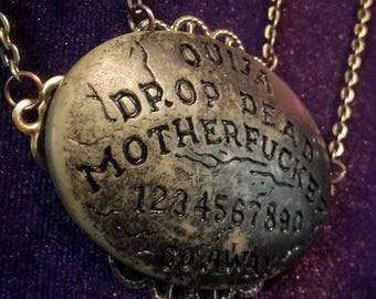 Ouija Necklace -  ouija occult medium gothic sceance witch witchcraft dead ghost scrying halloween