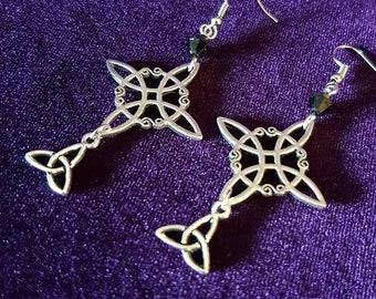 Celtic Star Triquetra Earrings