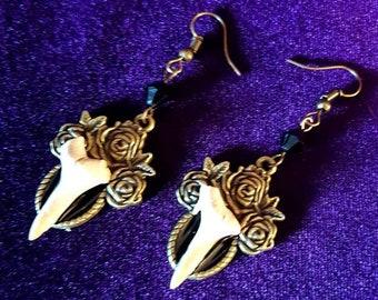 Shark Tooth Earrings.