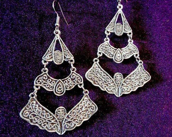 Ethnic Earrings - goth gothic victorian elegant earrings