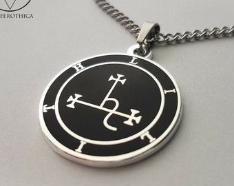 Sigil of Lilith Pendant Medallion - occult left hand path seal of lilith cloisonne