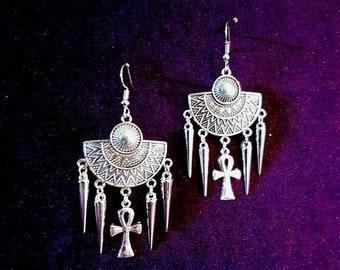 Ankh Spike Earrings