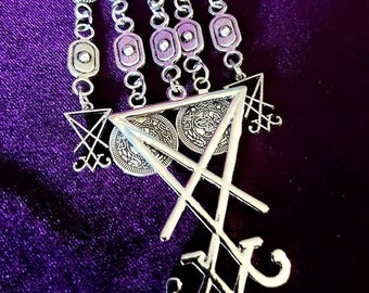 Long Luciferian Coin Necklace