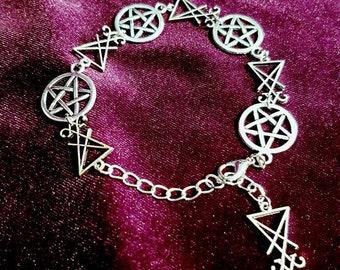 Sigil of Lucifer Pentagram Bracelet