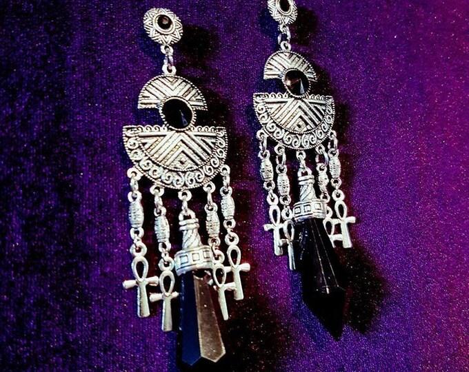 Vampire Ankh Earstuds - ankh vampire vampiregoth occult witch egypt pharao immortal ethnic gothic tradgoth