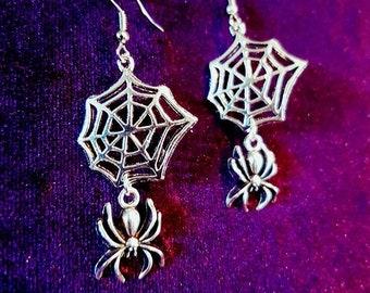 Spider Cobweb Earrings