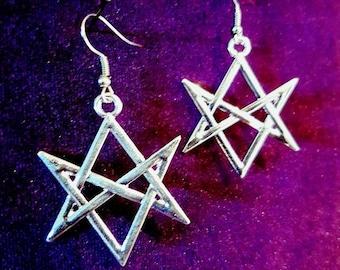 Unicursal Hexagram Earrings (2 Styles)
