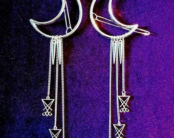 Luciferian Hairclips