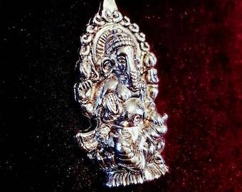Ganesha Necklace (silver&bronze colour)