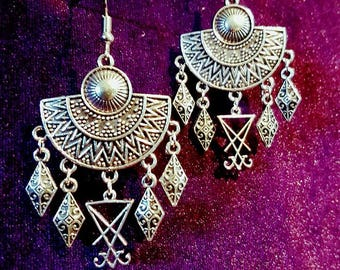 Bohemian Luciferian Earrings (also in Ankh version)
