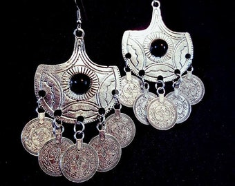 Coins for Charon Earrings - goth gothic occult river styx kharon ferry hades acheron
