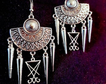 Luciferian Spike Earrings