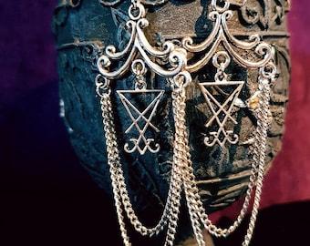 Long Luciferian Earrings