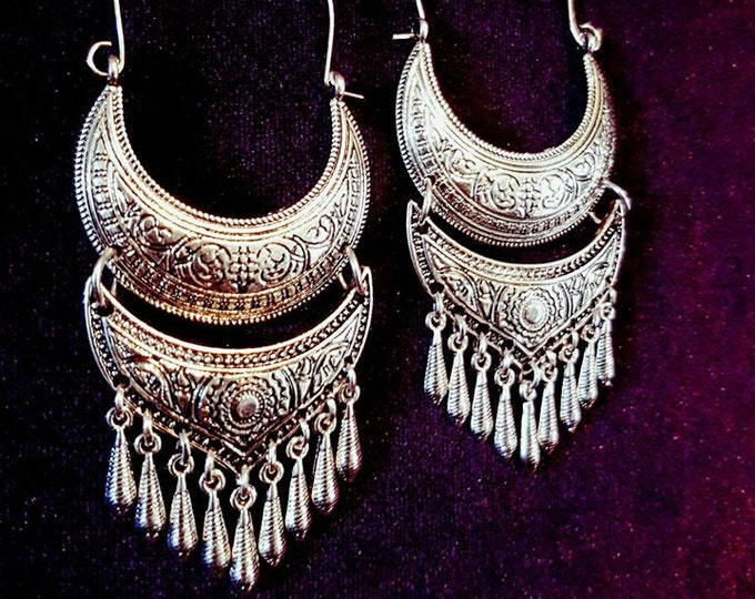 Gothic Boho Earrings - goth gothic drop earrings bohemian vampire victorian witch