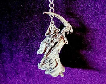 Grim Reaper Keychain - death occult ripper scythe