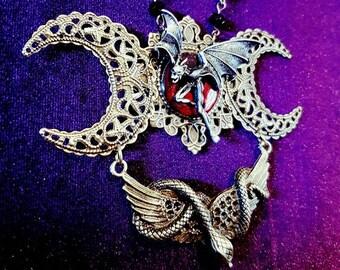 Demonic Gargoyle Rosary / Necklace.