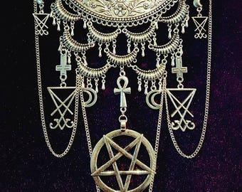 Luciferian Boho Neckpiece.