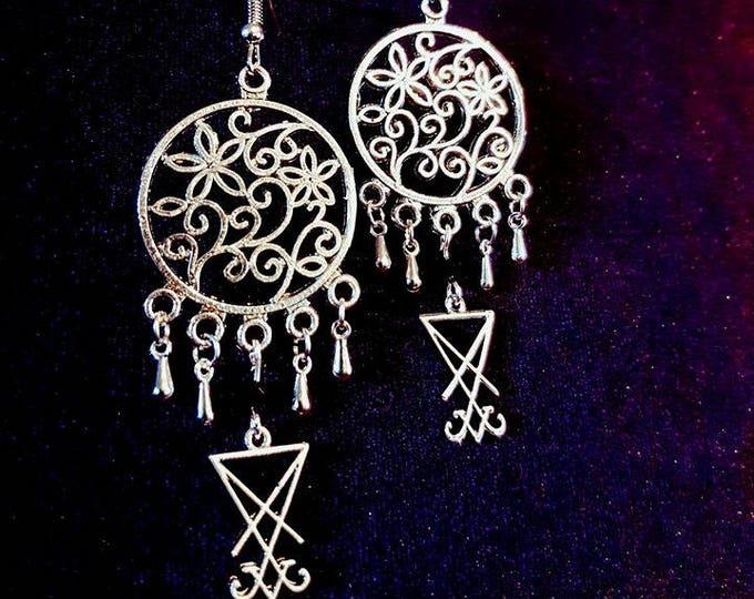 Luciferian Earrings - lucifer luciferian lefthandpath demon blackmagic gothic occult satanic
