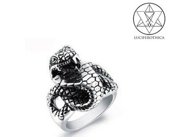 Stainless Steel Viper Ring.