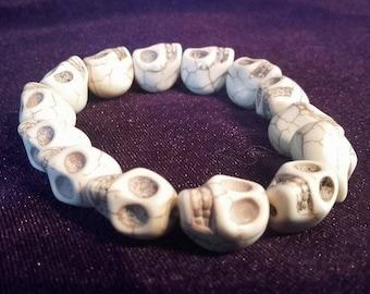 Skull Bracelet (Black/White)