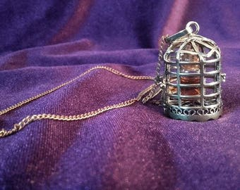 Birdcage Necklace with Patchouli