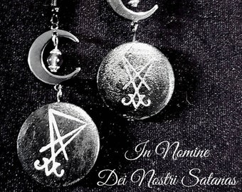 Luciferian Moon Earrings