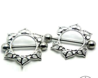 Flower Mandala Nipple Jewel - Spiritual piercing nipple decoration jewellery