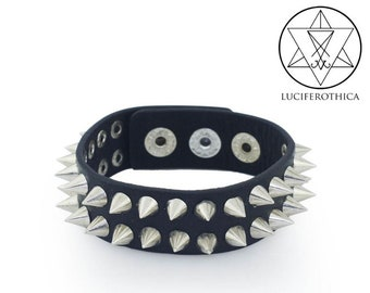 PU Leather Spike Bracelet