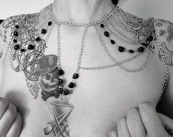 Luciferian Shoulder Jewelry Piece