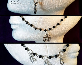Nosechain's (3 Styles) - Pentagram | Moon Goddess | 666