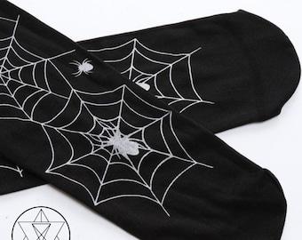 Gothic Spider Stockings / Long Knee-Socks
