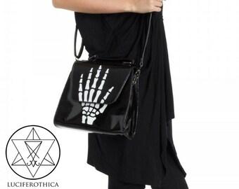 Middlefinger handbag - Gothic NuGoth Middlefinger bag Fuck Off