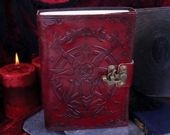 Baphomet Leather Journal | Spellbook