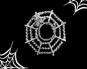 Spider Web Nipple Jewel - Gothic Cob web piercing-like decoration jewellery