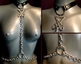 Sigil of Lucifer Body Chain Harness